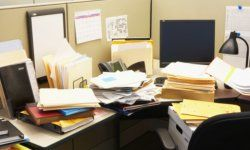 Is your desk a disorganized mess? Might be time to really dig in and address the issue.