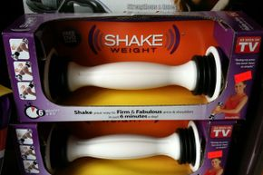 The Shake Weight claims to improve upon dumbbells by adding a spring into the mix.
