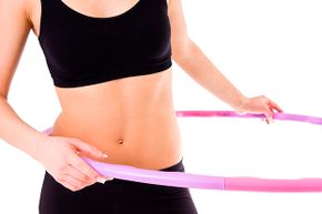 No, it's not really a hula hoop … it just acts like one.