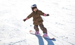 Even the little tykes can snowboard at some spots.