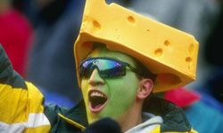 TV brings out the color in sports and their fans, such as this Green Bay Packers cheesehead.
