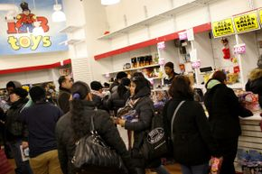 KB Toys bought eToys, but then went under. The New York City KB Toys pictured here during its going-out-of-business sale closed at the end of 2008.