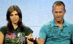 """The Biggest Loser"" trainers Jillian Michaels and Bob Harper attend a press conference."
