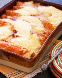 Cheese is always a welcome addition to black bean enchiladas.