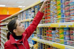 Canned food usually has a long shelf life, so it's a good item to stock up on.
