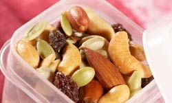 Trail mix gives campers of all ages long-lasting energy.