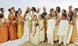 What kid doesn't love a day (or wedding) at the beach?