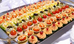 Serving appetizer-style foods is acceptable at almost all formal events.