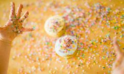 Sprinkles on top of a frosted cupcake? That's mandatory. But sprinkles in the batter? That's a colorful surprise!