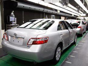 A Toyota Camry Hybrid