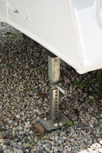 If you need to use a jack to support a trailer, make sure it's designed to hold the weight.