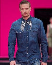 Men's western-style fashions were seen all over the runways during the Spring/Summer 2011 Fashion Week in Copenhagen, Denmark.