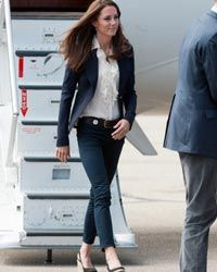 Catherine, Duchess of Cambridge, tastefully and stylishly sported skinny jeans during a visit to Canada in July 2011.