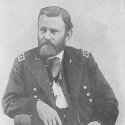 Under the administration of Ulysses S. Grant (above), Ebenezer Hoar couldn't make the jump to full Supreme Court justice.
