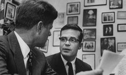 Theodore Sorensen during happier times, with John Kennedy.