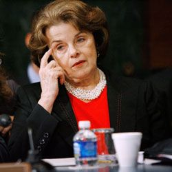 Senators, like California's Diane Feinstein (shown during a confirmation hearing in 2008), aren't always friendly to nominees.
