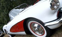 Classic cars like this fully restored 1958 Corvette can make good investments.