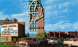 The Sands Hotel in Las Vegas, Nev., seen here in a 1950s postcard, featured top-notch entertainment.