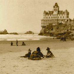 The Cliff House, seen here in 1898, has gone through several incarnations, two of which burned.