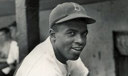 Jackie Robinson, seen here in his Brooklyn Dodgers uniform, broke baseball's color barrier in the minor leagues in New Jersey's Roosevelt Stadium.
