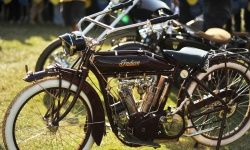 A 1915 Indian Model B motorcycle