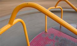A fresh coat of paint can transform playground equipment.