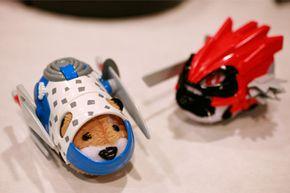 Ninja warrior Zhu Zhu pets are shown at the American International Toy Fair, on Feb. 16, 2010, in New York.