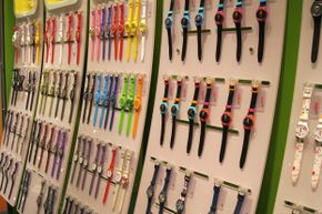 A wall of swatches