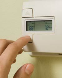 A programmable thermostat can help regulate the temperature during different times of the day.
