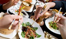 Use social discount sites to get cheap meals at trendy restaurants.
