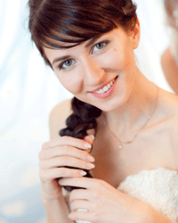 Braids are a beautiful, fuss-free choice for any bride.