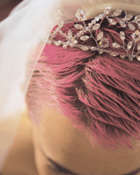 Pink dye won't do anything to help you beat the heat, but dramatically shorter locks will!