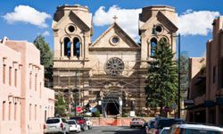 When visiting Santa Fe, you won't want to miss the beautiful architecture of the Cathedral Basilica of St. Francis of Assisi.