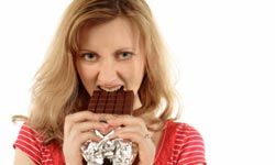 Chocolate cravings during PMS are just one thing that's been attributed to women's hormones.