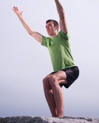 This pose only looks easy -- it's actually quite challenging to your muscles, so use a wall for stabilization when you're just starting out.