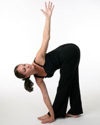 While this pose requires flexibility, it's great for maintaining bone strength. Try using a chair for extra support until you get the hang of it.