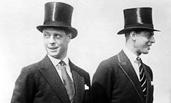 Nobody was anybody without a top hat and tails in the '20s.