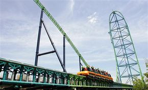 The Kingda Ka is one of the world's tallest and fastest roller coasters.