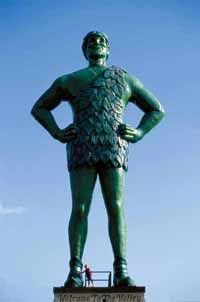 Image Gallery: Tourist Attractions The Jolly Green Giant. See more pictures of strange tourist attractions.