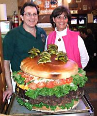 Think this one's big? This is the 123-pound former record holder, from Denny's Beer Barrel Pub in Clearfield, Pa. See more pictures of world food records.