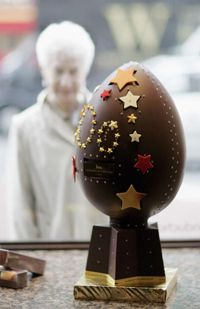 The United Kingdom's most expensive diamond-encrusted chocolate egg was available around Easter 2006 -- for around $100,000.