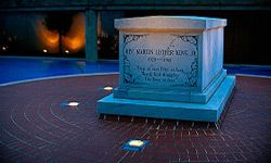 The final resting place and epitaph of Rev. Dr. Martin Luther King, Jr.