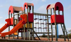 This play structure has plenty to keep even the most active kids busy.