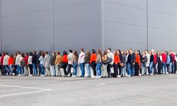 """""""Queue"""" may refer to a line of people, among other things."""