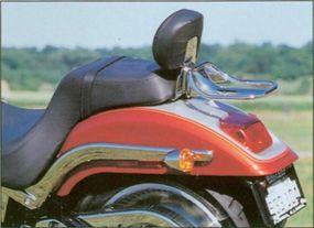 The 2000 Harley-Davidson FXSTD Deuce featured a straight-cut rear fender.