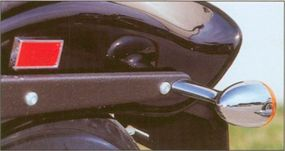 Items that are traditionally chromed are instead cloaked in black on the 2002 Harley-Davidson FXSTB Night Train.
