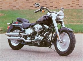 Although the 2002 Harley-Davidson FLSTF Fat Boy underwent some changes, it remained one of the most popular Harley-Davidson motorcycle models. See more motorcycle pictures.