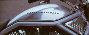 The 2002 Harley-Davidson VRSCA V-Rod features a long, low silhouette.