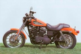 The look of the 2002 Harley-Davidson XL-883R Sportster is inspired by the company's racing past.