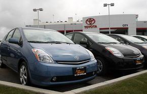 Efficient cars like the Toyota Prius didn't show as big a drop in fuel efficiency ratings as larger automobiles.